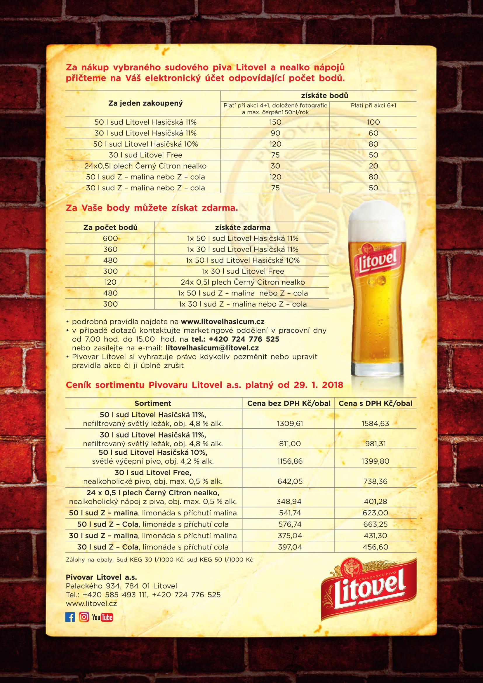 Pivovar Litovel Obchodní nabídka HS-2